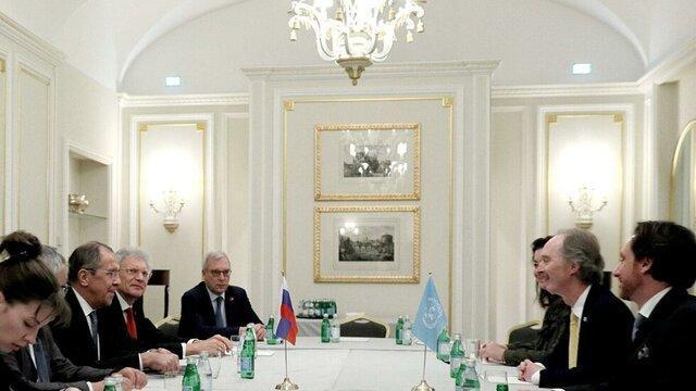 رایزنی لاوروف و پدرسن درخصوص کمیته قانون اساسی سوریه