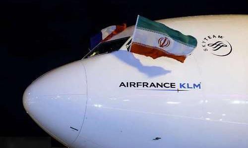 پرواز ایرفرانس و فرود در فرودگاه امام پس از 8 سال