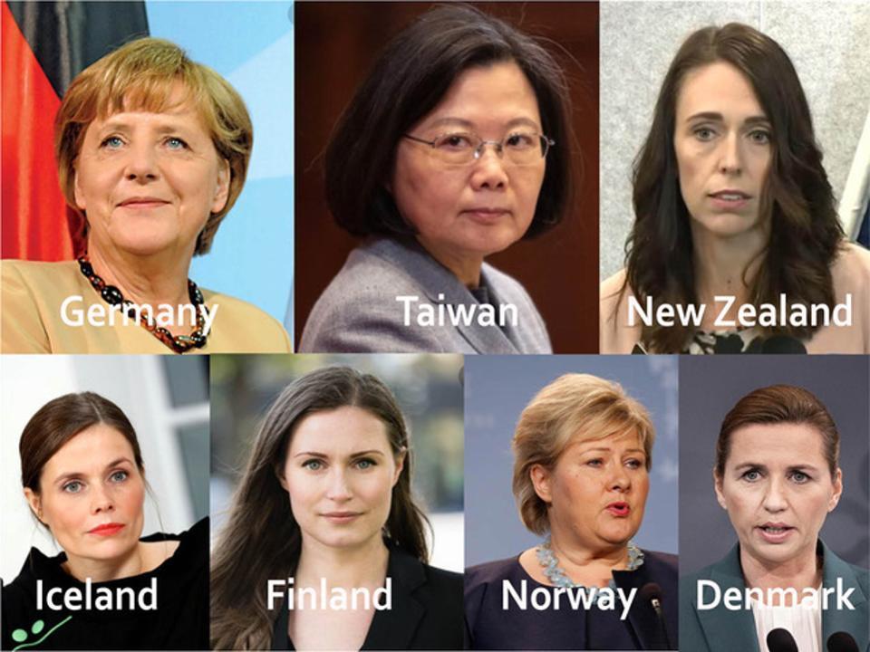 رهبری زنان؛ عنصر مشترک 7 کشور پیروز در مبازره با کرونا