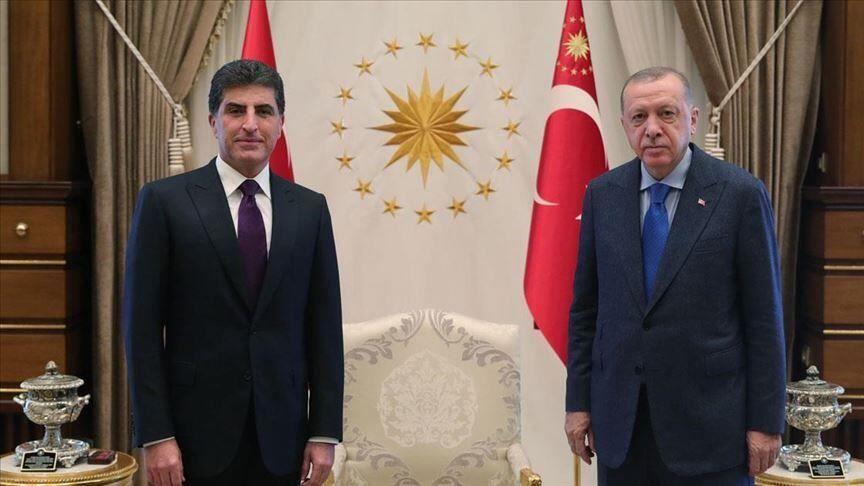 ملاقات بارزانی و اردوغان