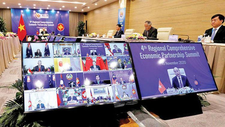 چین و امضای بزر گ ترین توافق تجارت آزاد؛ تحولی در جنگ تجاری