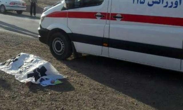 یک فوتی در تصادف پراید با کامیون