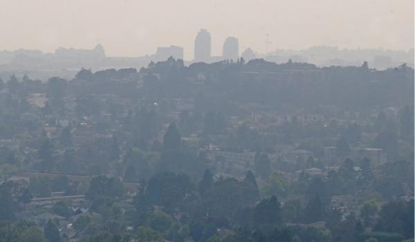 دود ناشی از آتش سوزی ها در بریتیش کلمبیا و واشنگتن به مترو ونکوور رسید