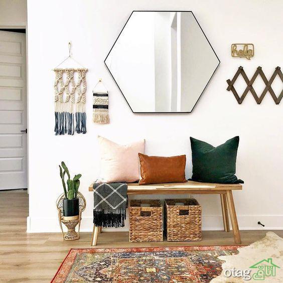 مدل های نو آینه دیواری در شکل ها وطرح های مختلف